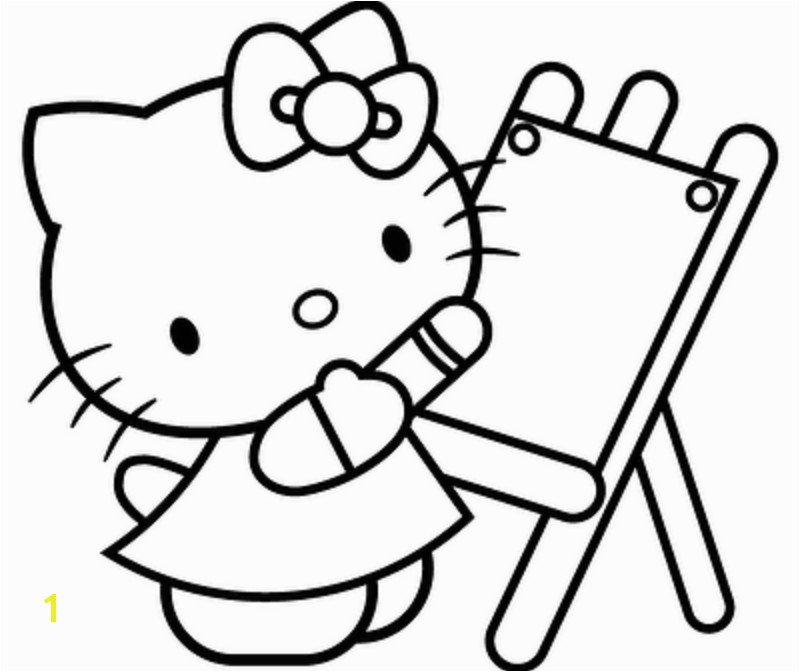 Cat Coloring Pages For Kids Hello Kitty Coloring Pages For Kids