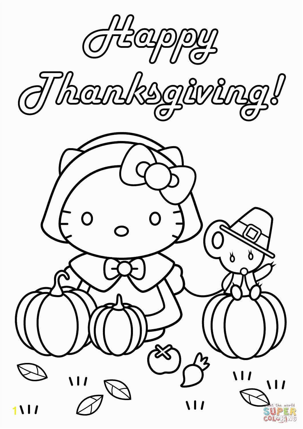 Beautifull Hello Kitty Family Coloring Pages of your favorite