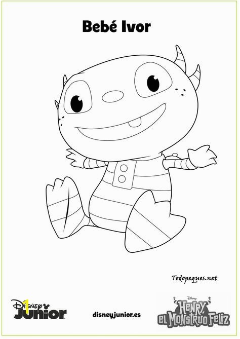 Henry Hugglemonster coloring page Disney Junior Pinterest
