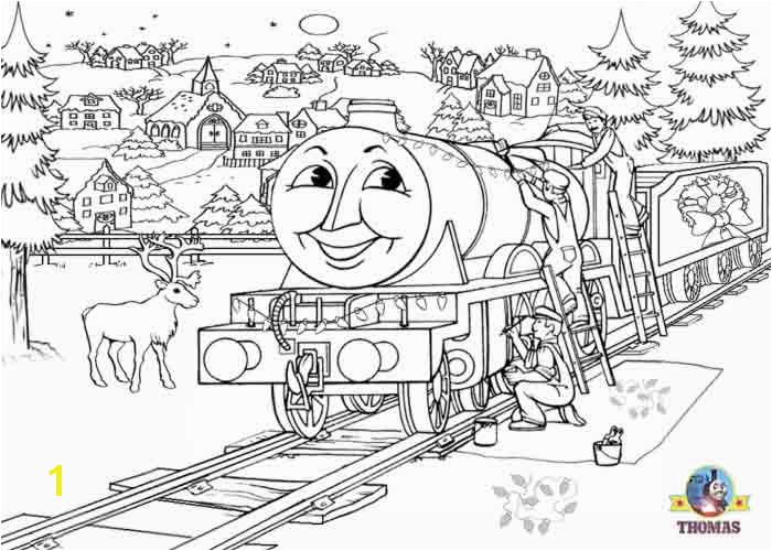 line printables happy Henry Thomas the tank engine colouring pages for kids free winter pictures