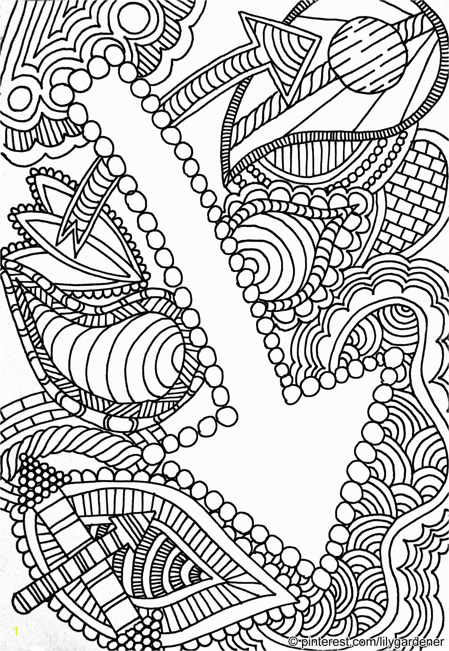 Abstract Coloring Page for Adults high resolution free and printable with…