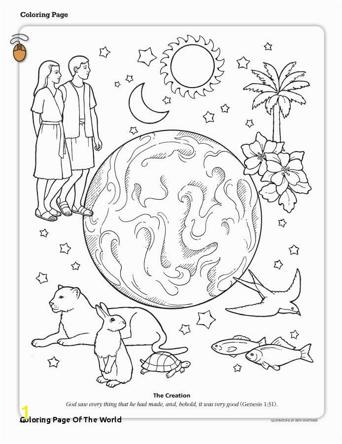 27 Coloring Page the World