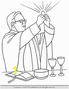 Sacrament of Holy munion – The Eucharist Coloring Page