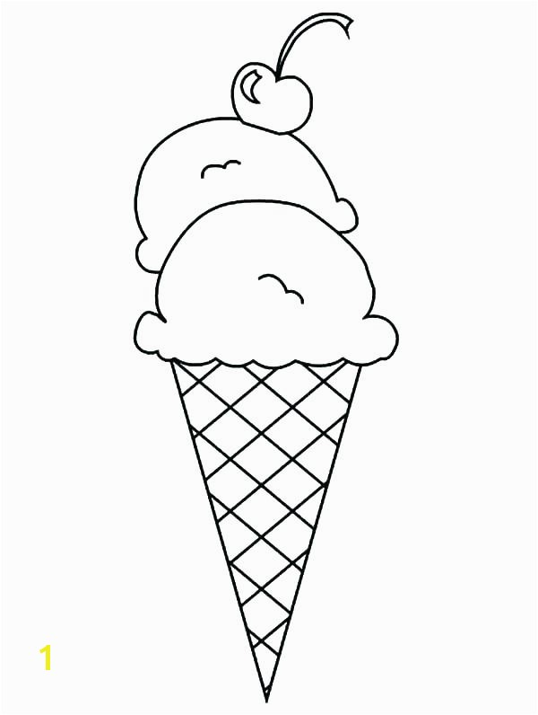 Printable Ice Cream Cone Coloring Pages To Print Cookie Best Pri