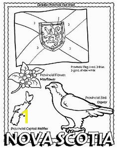 Canadian Province Nova Scotia coloring page Helpful for memory work with Claritas Classical Academy Cycle