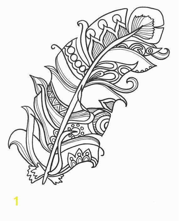 10 Fun and Funky Feather ColoringPages Original Art Coloring Book for Adults Coloring Therapy Coloring Pages for Adults Printable