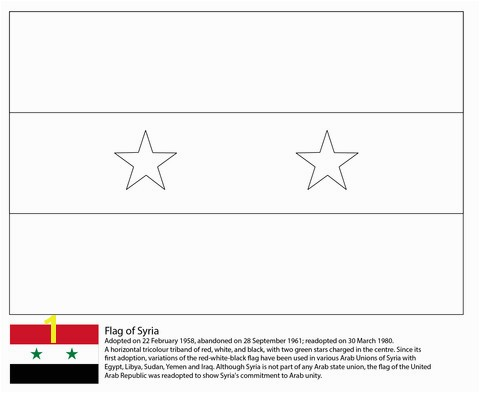 Iraq Flag Coloring Page Inspirational Flag Syria Coloring Page Creating Pinterest