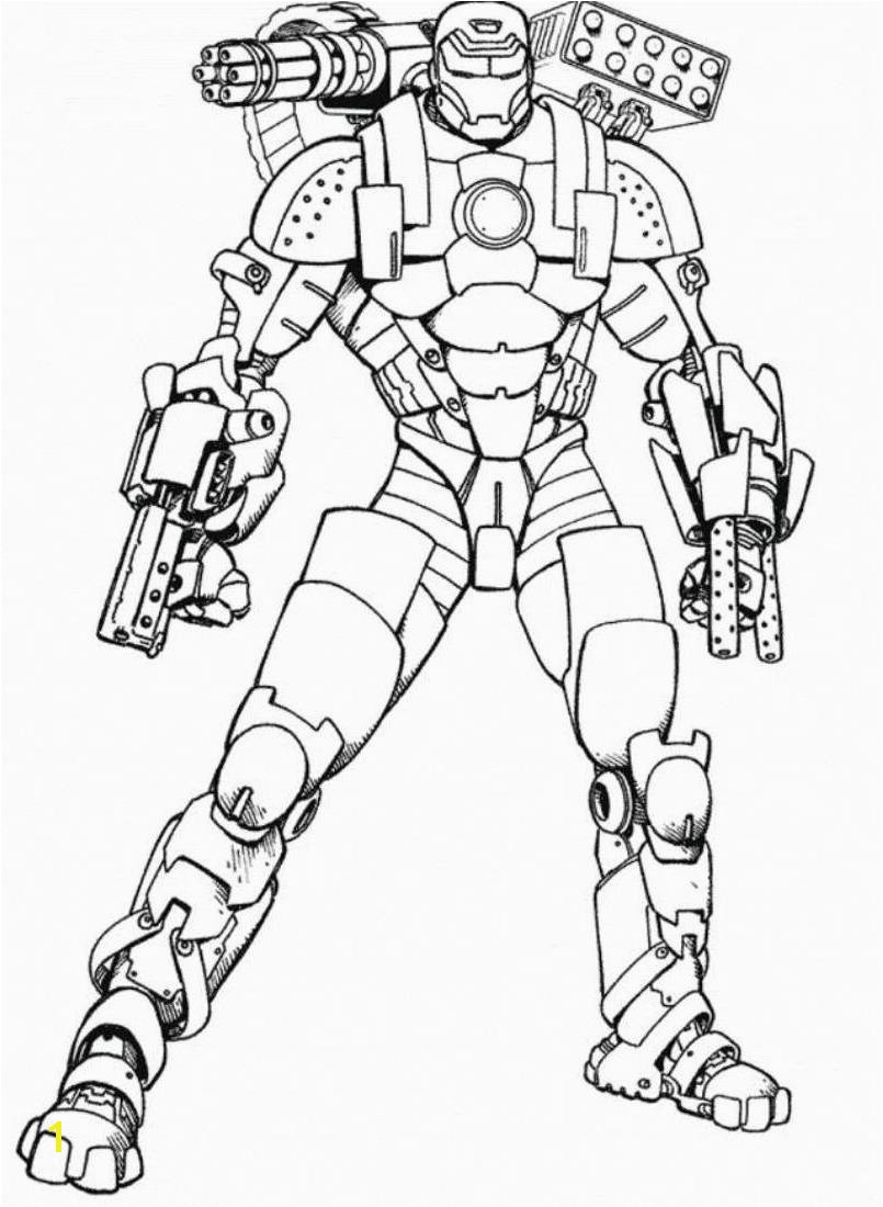 Rocket Launcher Iron Man Coloring Pages