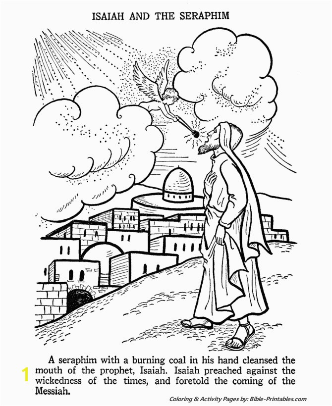 Isaiah Coloring Pages For Kids The Prophet Isaiah Church Pinterest