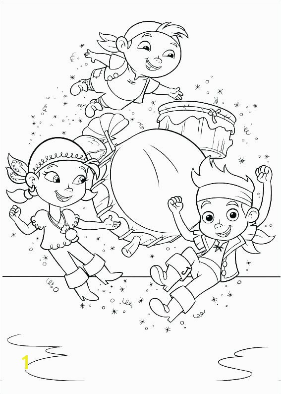 Jake And The Neverland Pirates Coloring Pages Free Printable Jack Colou