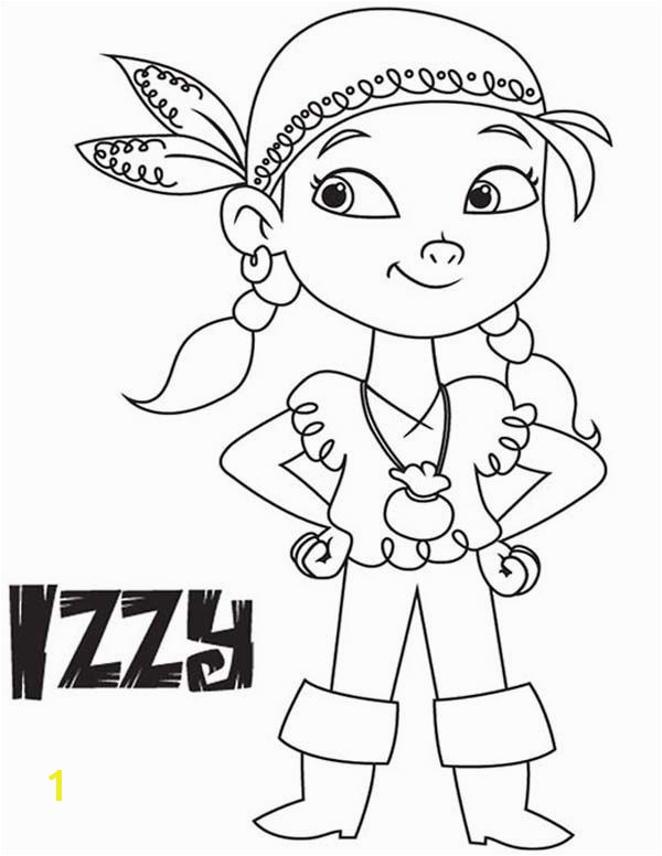 Jake and the Neverland Pirates Izzy the Vice Captain of Never Land Pirates Coloring Page