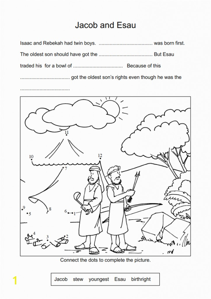 Jacob & Esau Worksheets and Coloring Pages