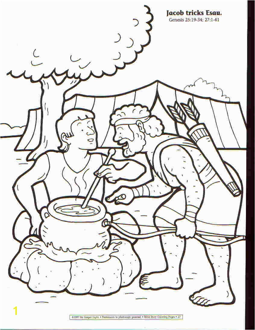 Promising Jacob And Esau Coloring Page Awesome Pages Ideas