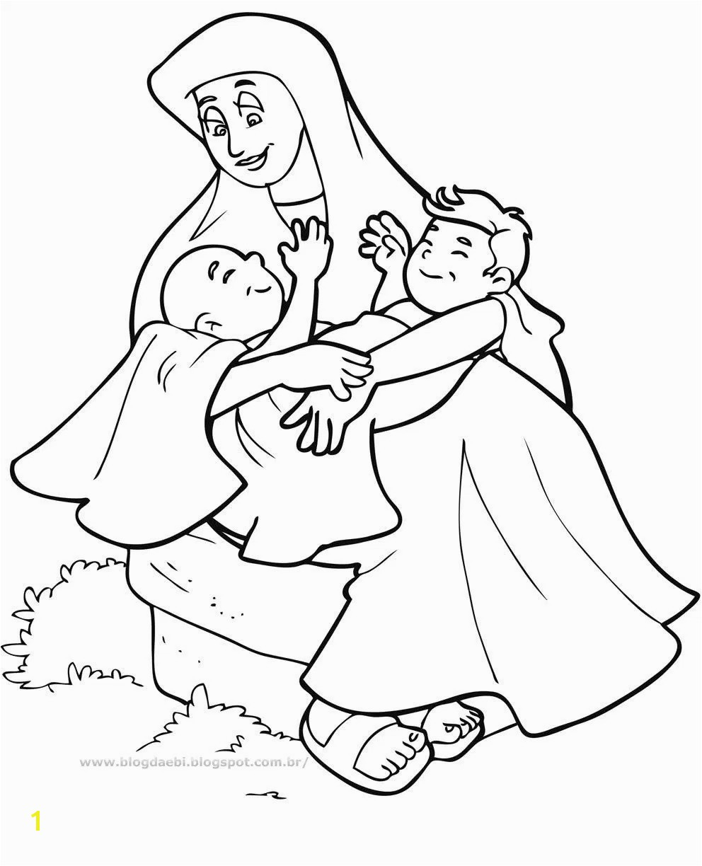 Sturdy Jacob And Esau Coloring Page Pages Barriee In Isolution