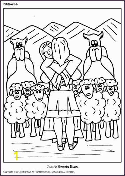 Jacob and Esau Reunite Coloring Page Jacob Deceived isaac Spot the Differences