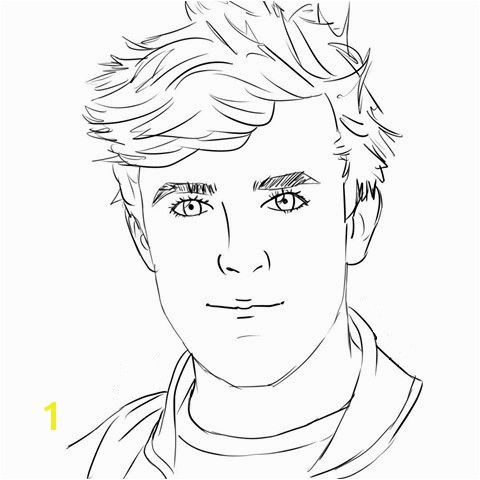 the Jake Paul Portrait coloring pages