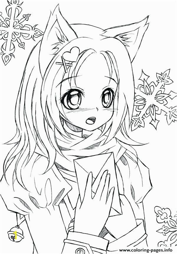 Anime Coloring Sheets Enchanting Cute Anime Coloring Pages About Anime Fox Girl Coloring Pages