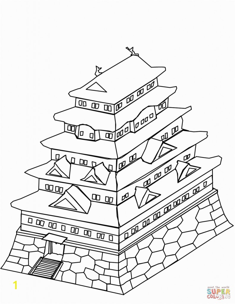 Full Japanese Coloring Pages Japan