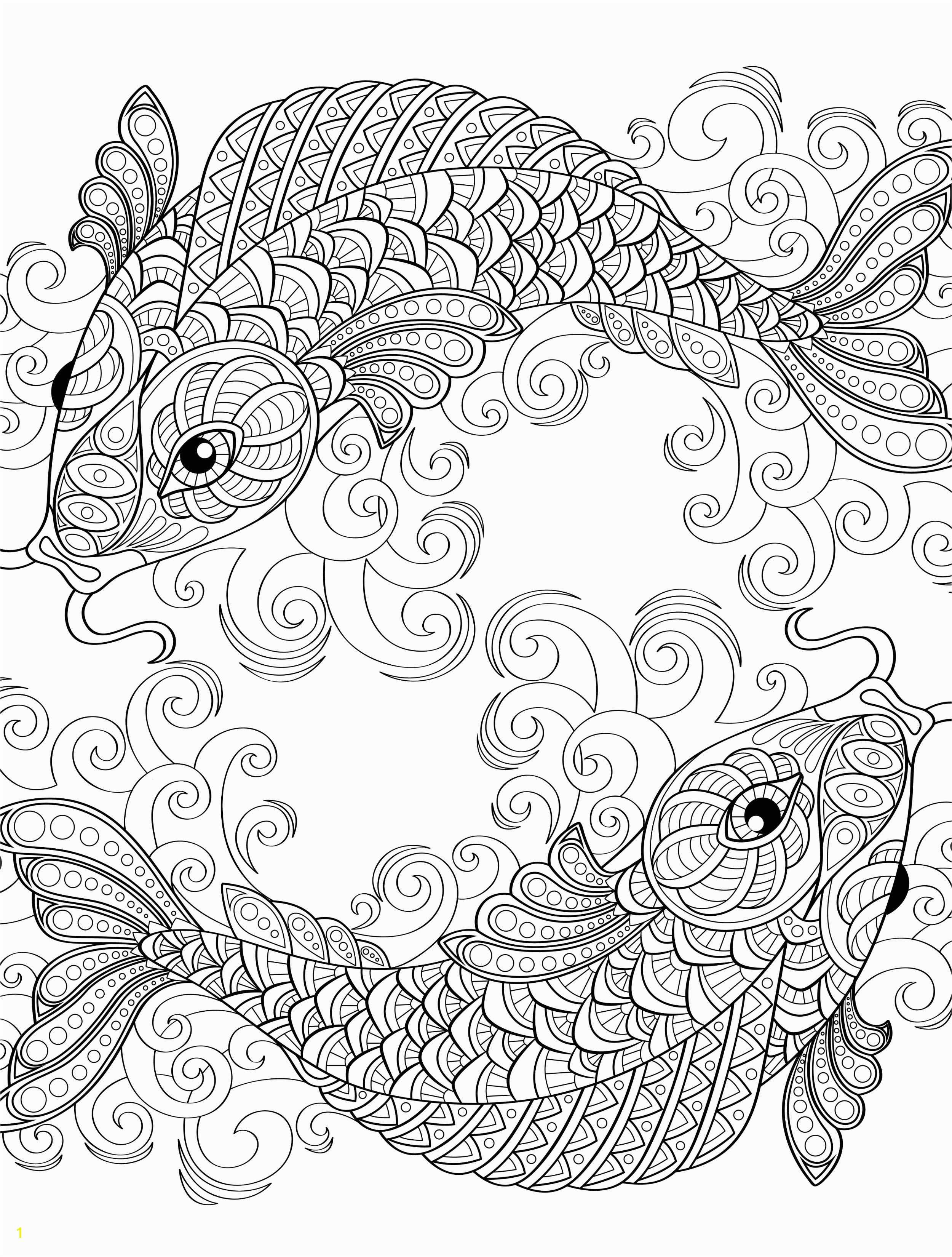 Japanese Koi Fish Coloring Pages 18 Absurdly Whimsical Adult Coloring Pages Coloring