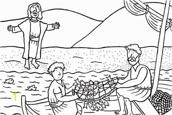 Jesus And Friends Coloring Pages Fresh Disciples Od Christ Catching Fish Page Image