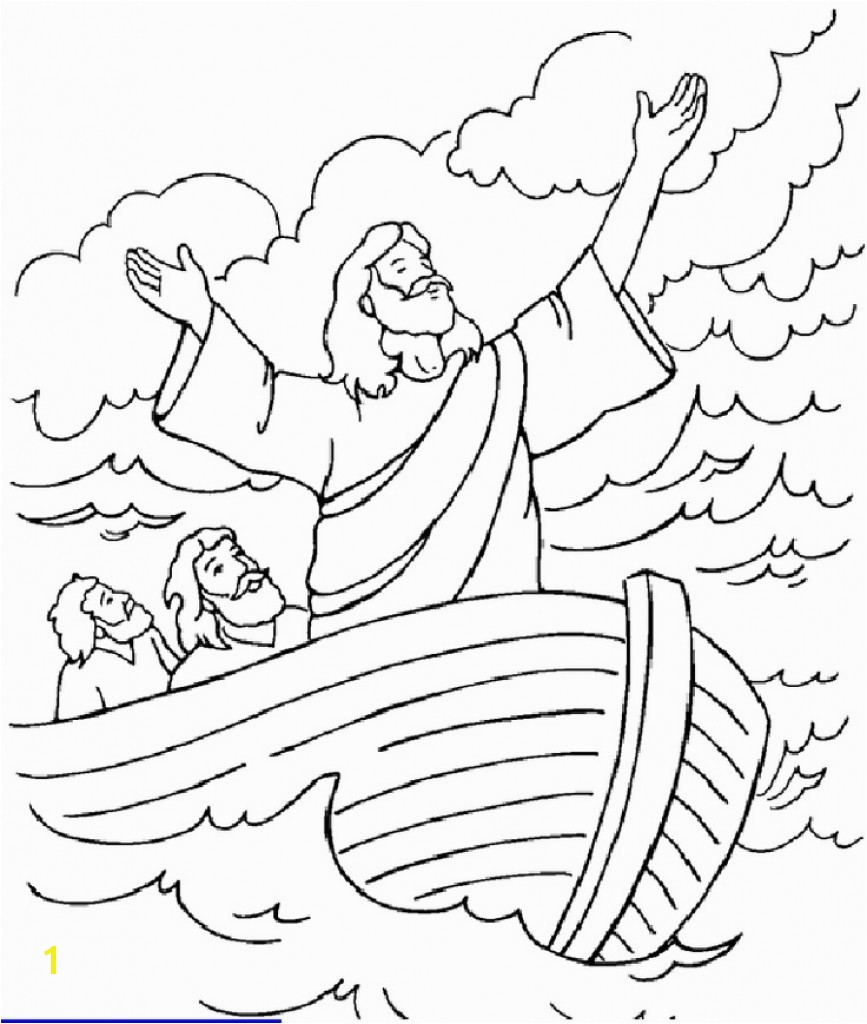 Jesus Calms The Storm Coloring Page Free Pages Art Within Entrancing For Jesus Calms The Storm Coloring Page