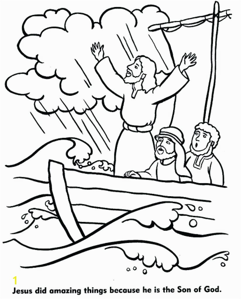 Printable Coloring Pages Jesus Calms Storm Copy Best The Page In Within Jesus Calms The Storm Coloring Page