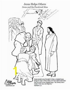 Jesus Heals coloring page audio Bible story and script available at