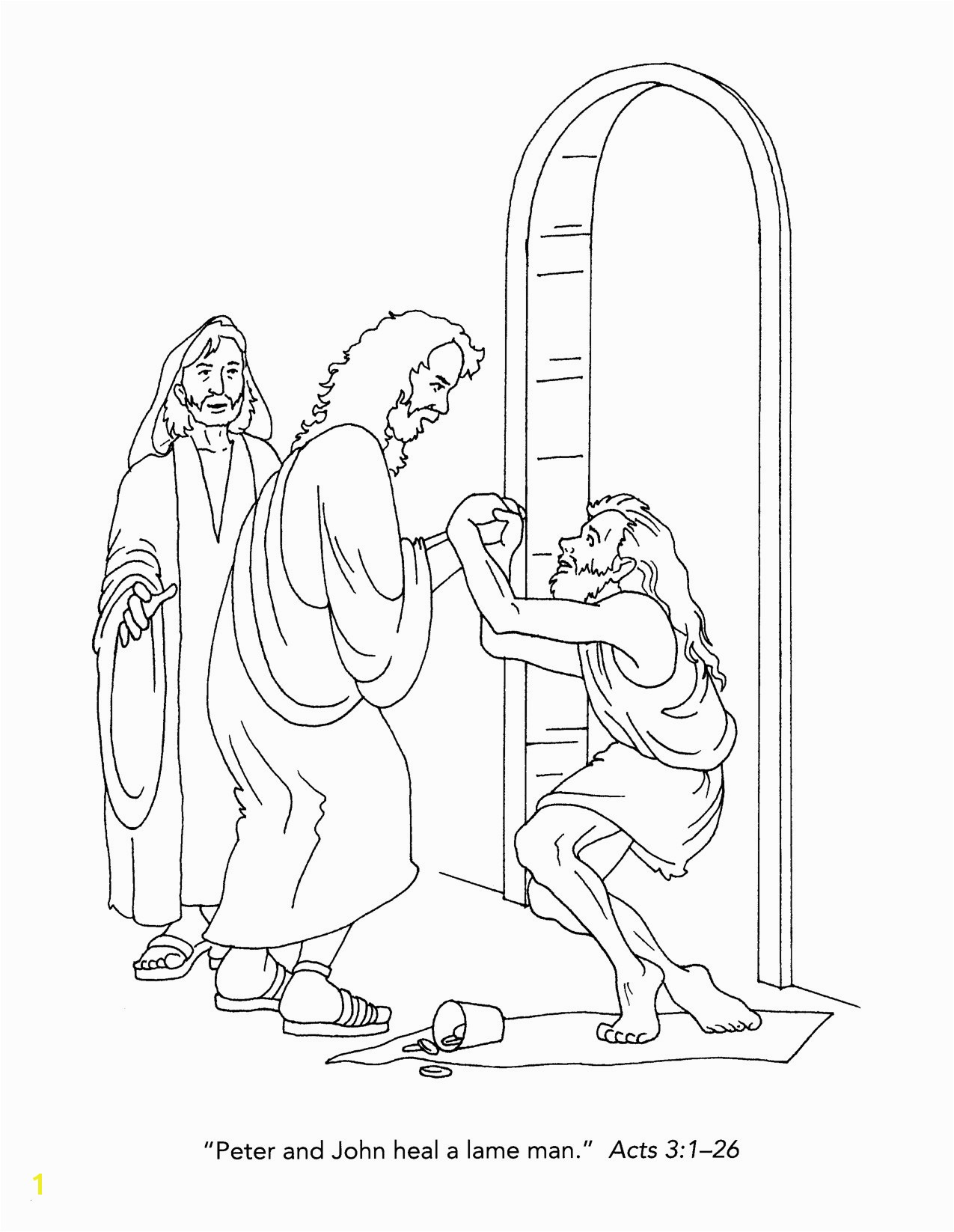 Jesus Heals A Paralytic Coloring Page Jesus Healing the Blind Man Coloring Page Lovely Awesome 13