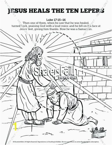 Jesus Heals 10 Lepers Coloring Page Beautiful Coloring Pages Luke 16 10 Coloring Page Ten Lepers School Pages to