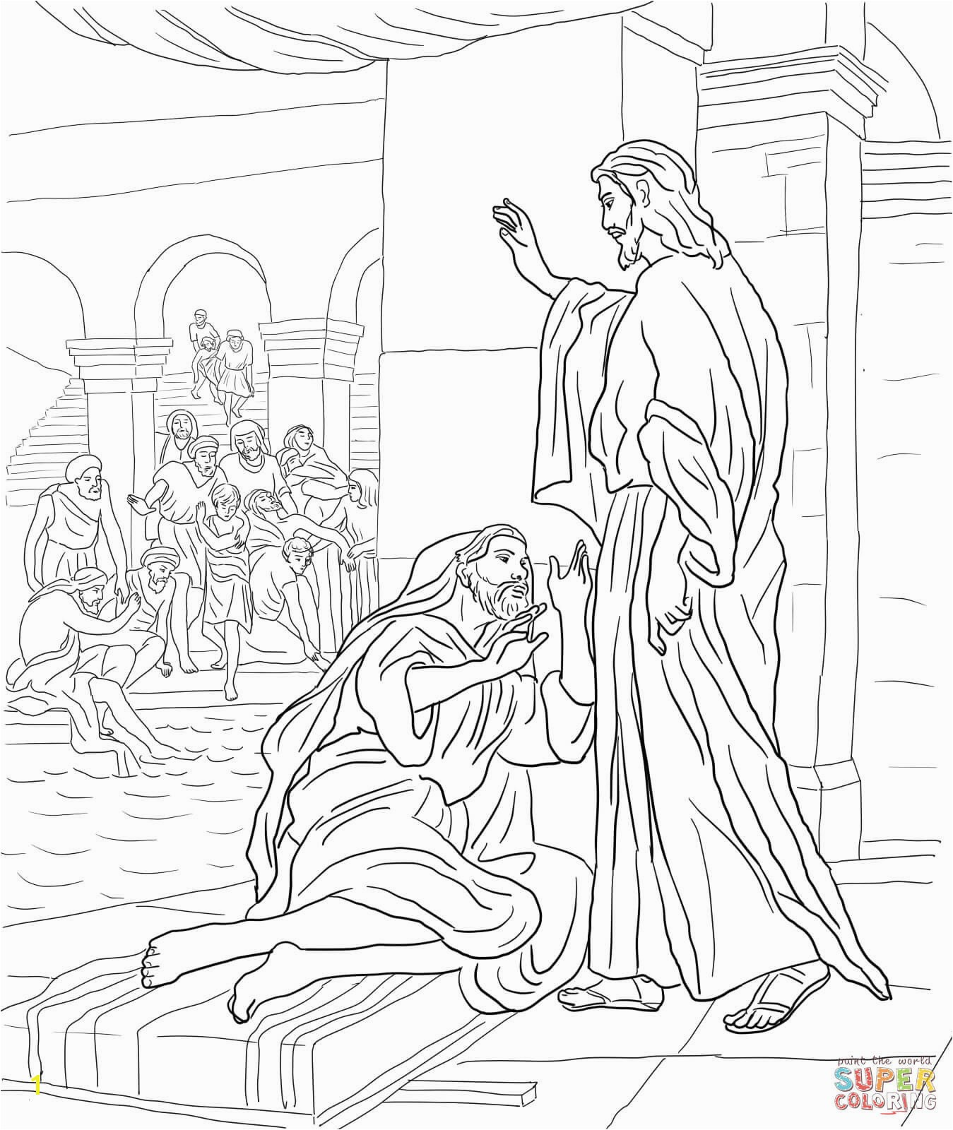 Jesus Heals Coloring Page Inspirational Beautiful Jesus Heals 10 Lepers Coloring Page Letramac Image