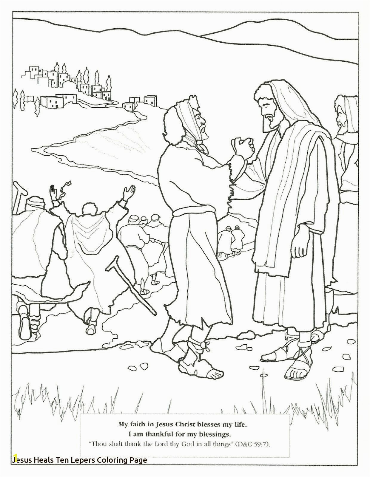 Ten Lepers Coloring Page Fine Jesus Heals Ten Lepers Coloring Page Elaboration Coloring