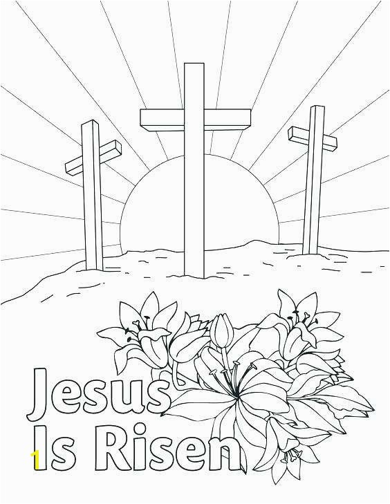 Jesus Resurrection Coloring Pages Lovely Resurrection Coloring Pages for Preschoolers at Getcolorings