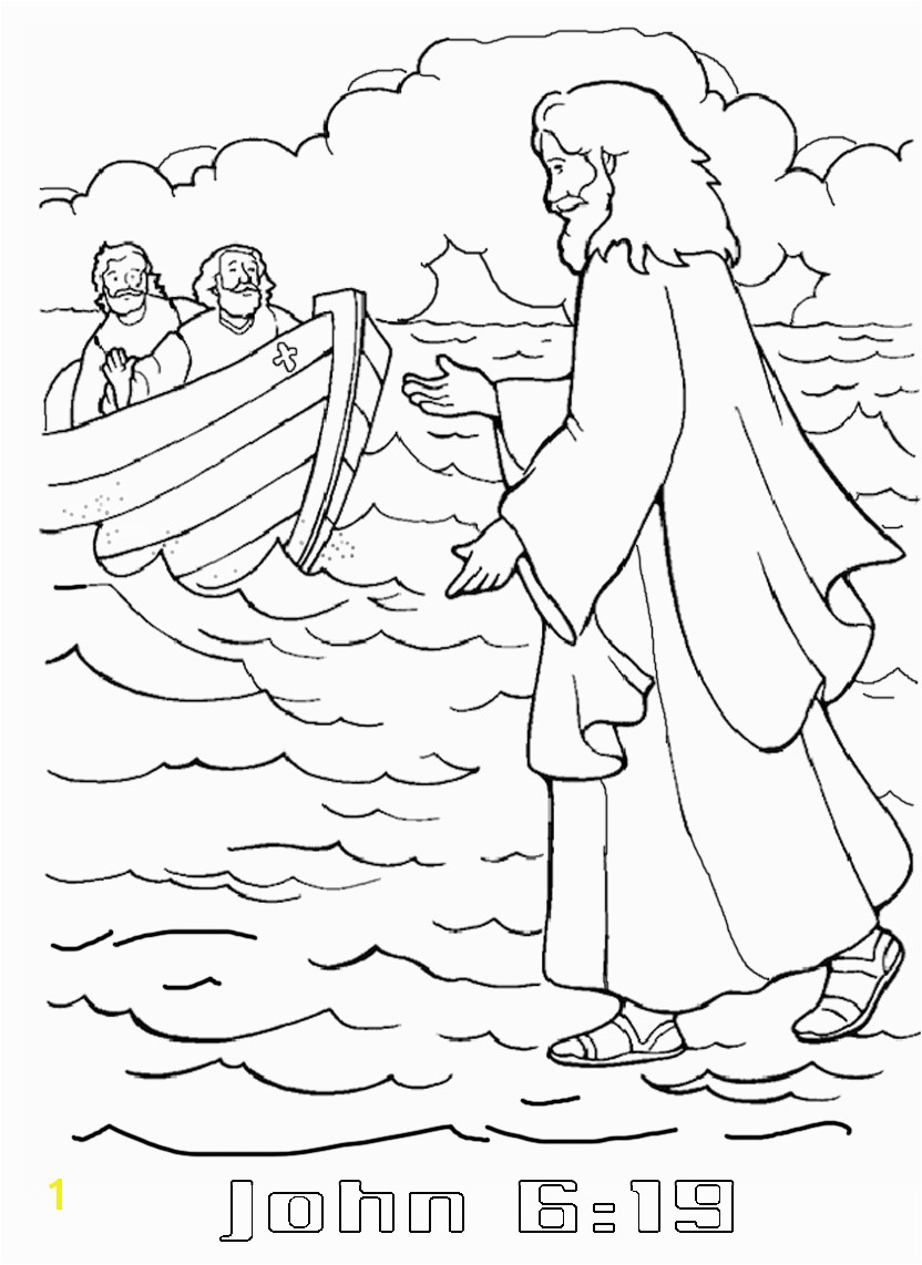 Jesus Walks On the Water Coloring Page Fresh Jesus Walks Water Coloring Sheet Gallery