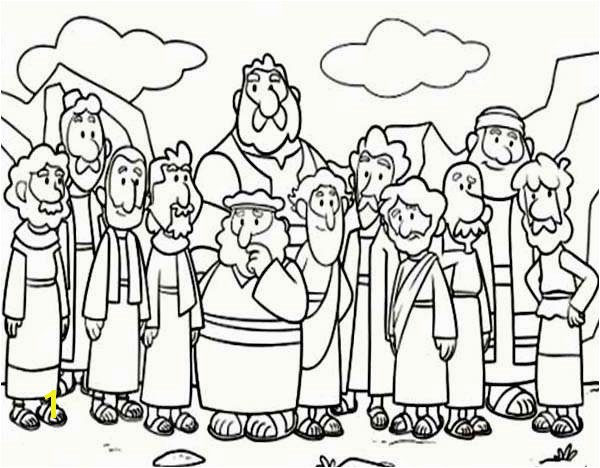 Jesus and the Children Coloring Page Free Cartoon Od Jesus Disciples Coloring Page