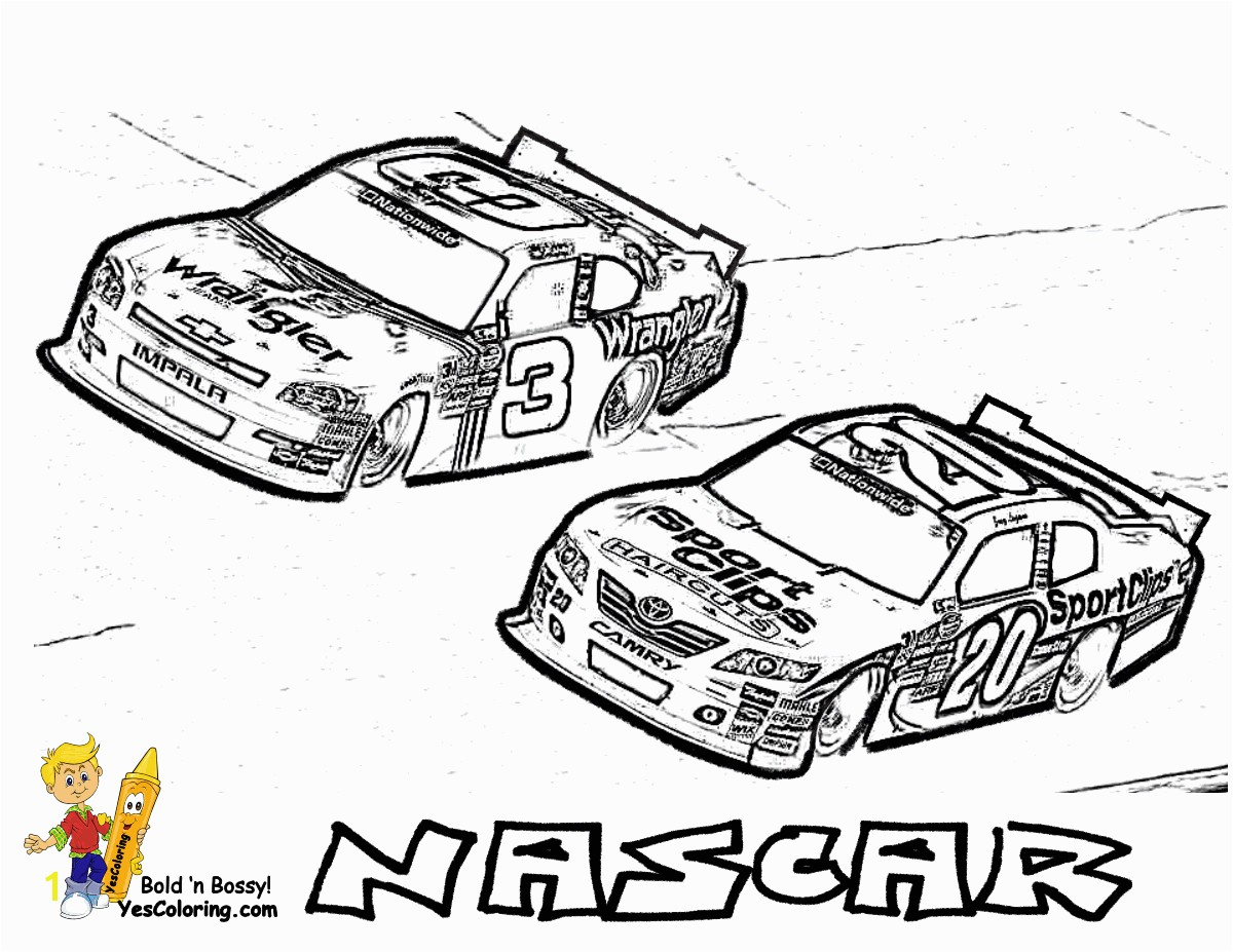 Coloring Page Free Nascar 07 Full