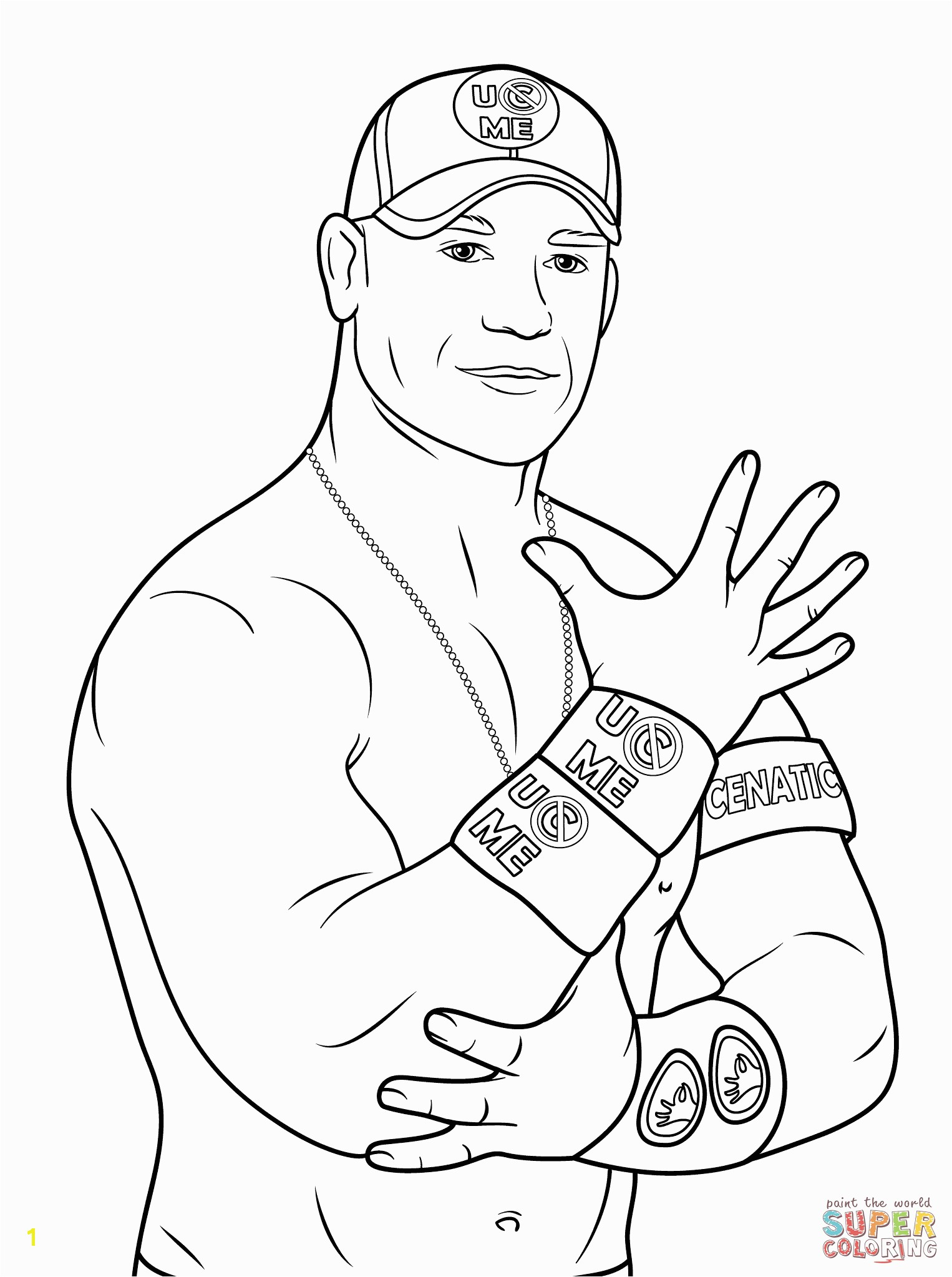 the John Cena coloring pages