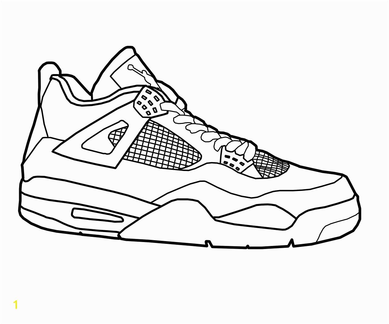 jordan shoe coloring sheet jordan 11 coloring page printable 010