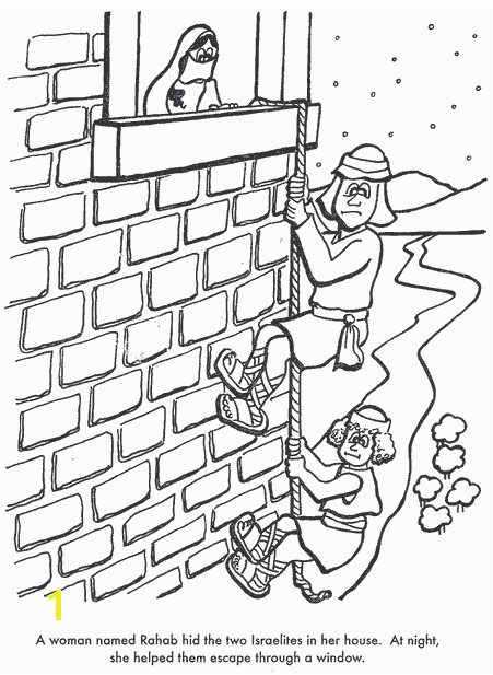 Coloring Pages Joshua And Rahab Sketch Coloring Page