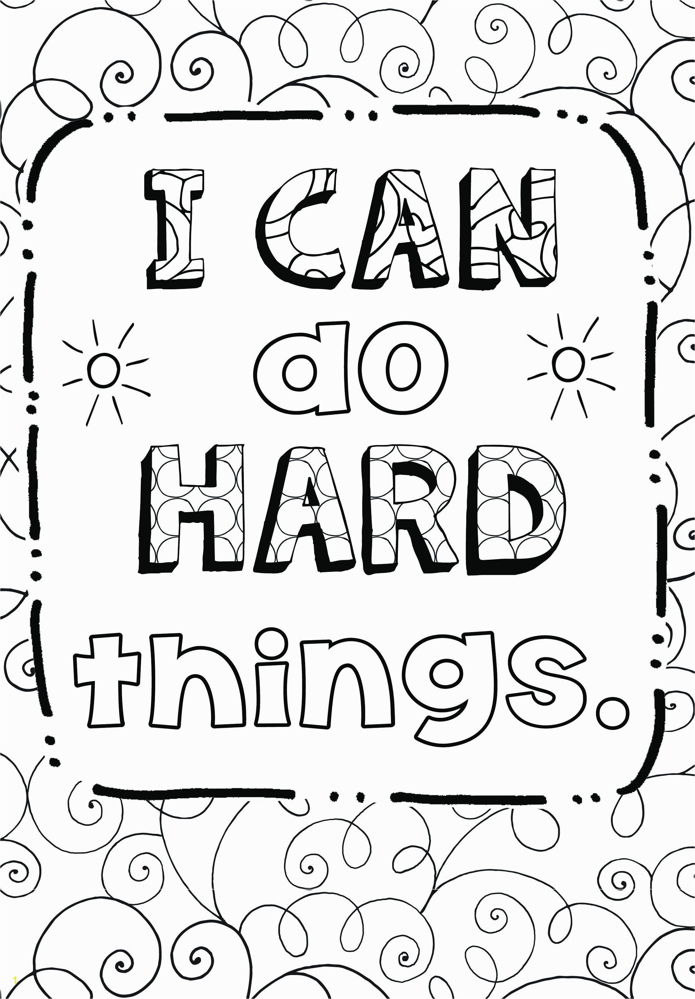 "Growth Mindset Coloring page ""I can do hard things"""