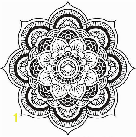 A floral mandala coloring pages