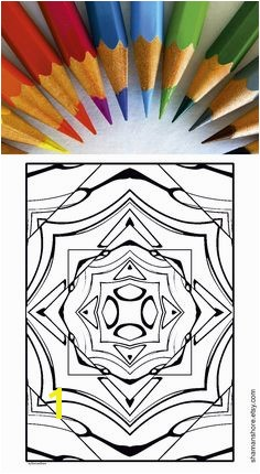20 Abstract Kaleidoscope Coloring Pages Printable Digital Adult Coloring Book Pdf INSTANT DOWNLOAD