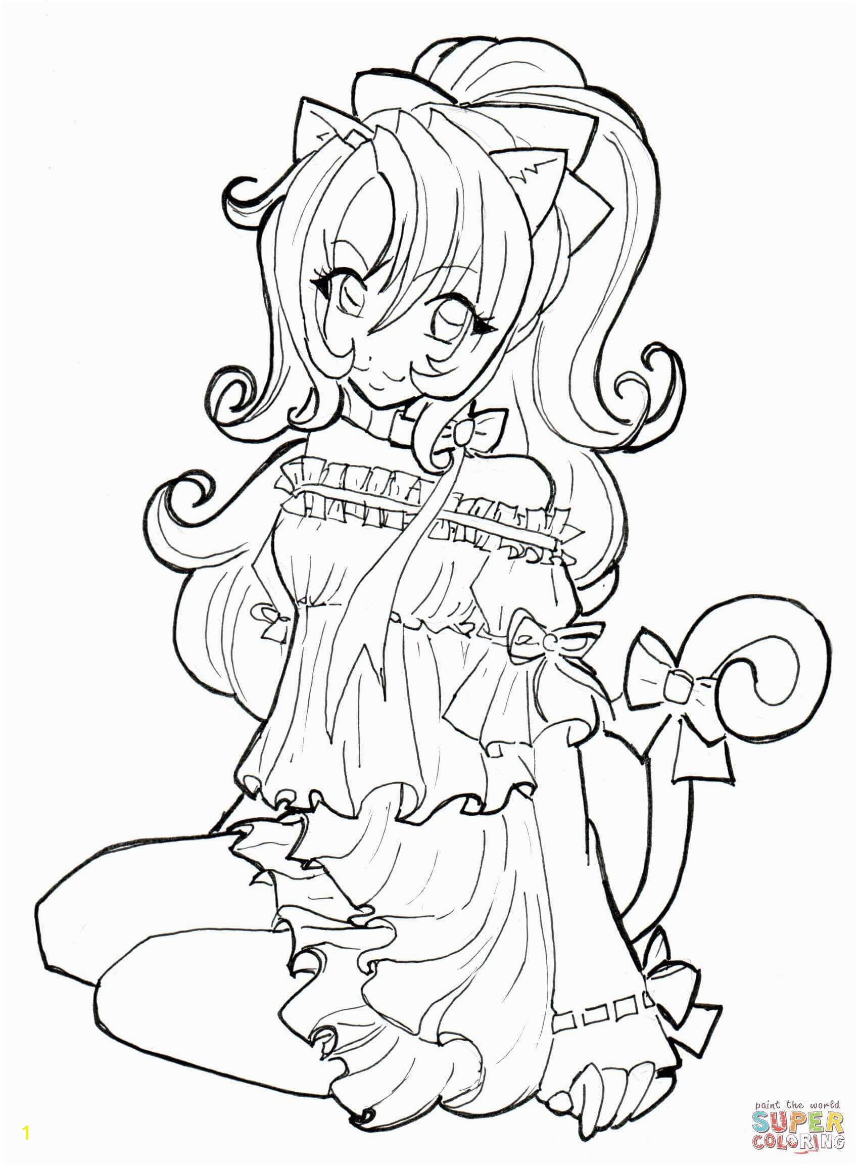 Cute Anime Chibi Girl Coloring Pages Best Witch Coloring Page Inspirational Crayola Pages 0d Coloring Page