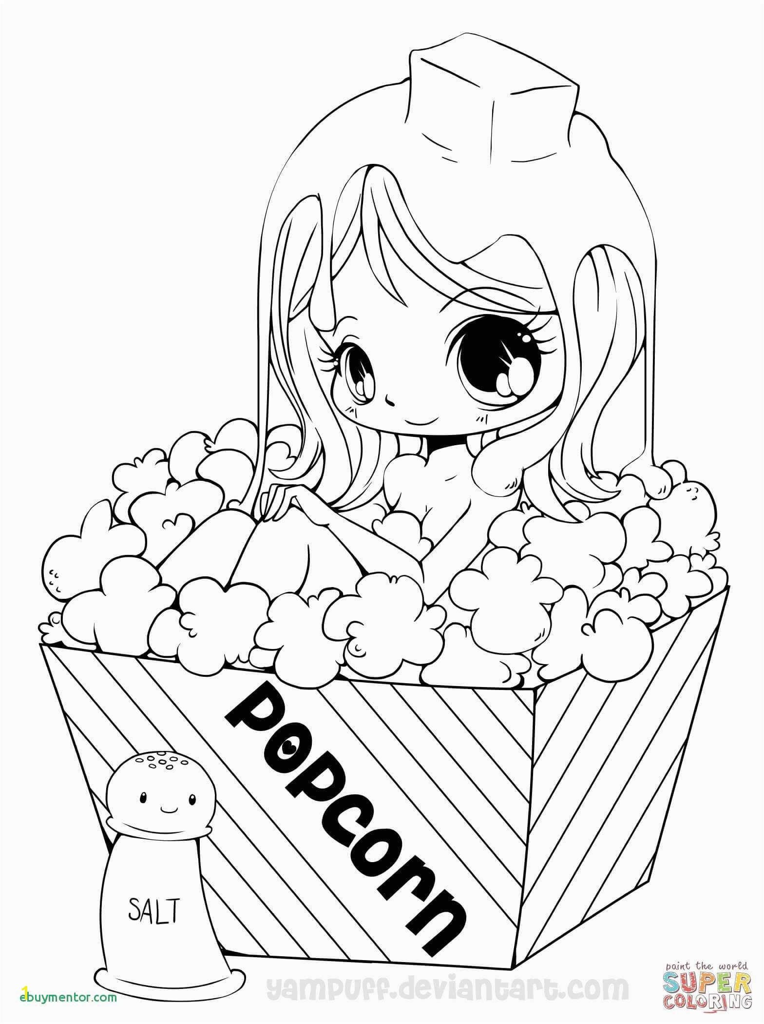 Kawaii Anime Girl Coloring Pages Cute Anime Chibi Girl Coloring Pages Lovely Witch Coloring Page