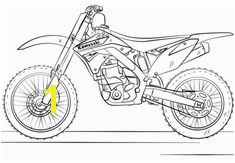 Kawasaki Motocross Bike Coloring page