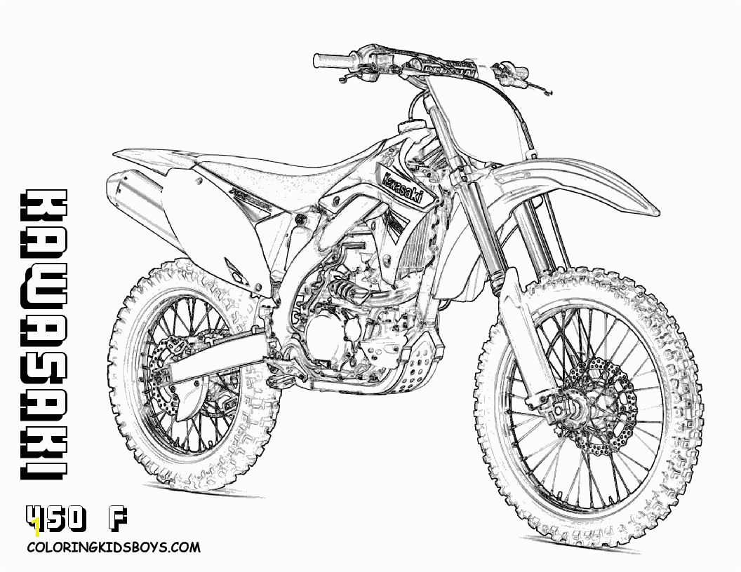Inspirational Dirt Bike Coloring Pages