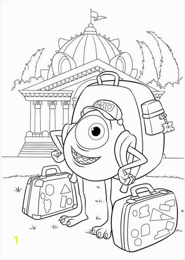 Coloring page Monsters University Monsters University on Kids n Fun Kids n Fun you will always find the best coloring pages first