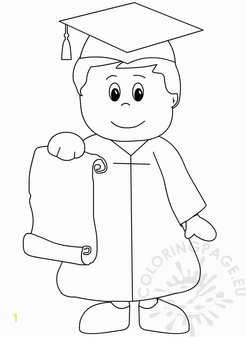 beautifull kindergarten graduation coloring pages printable and online
