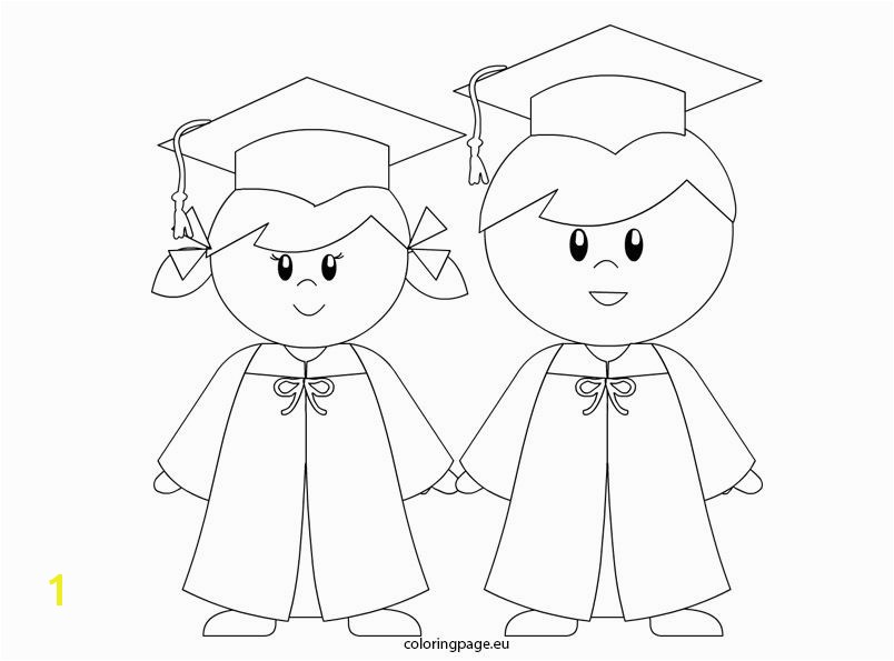 Kindergarten Graduation Coloring Page Kindergarten Graduation Coloring Page for Preschool