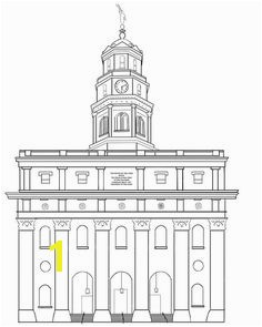 Nauvoo Temple Lineart by Liahona