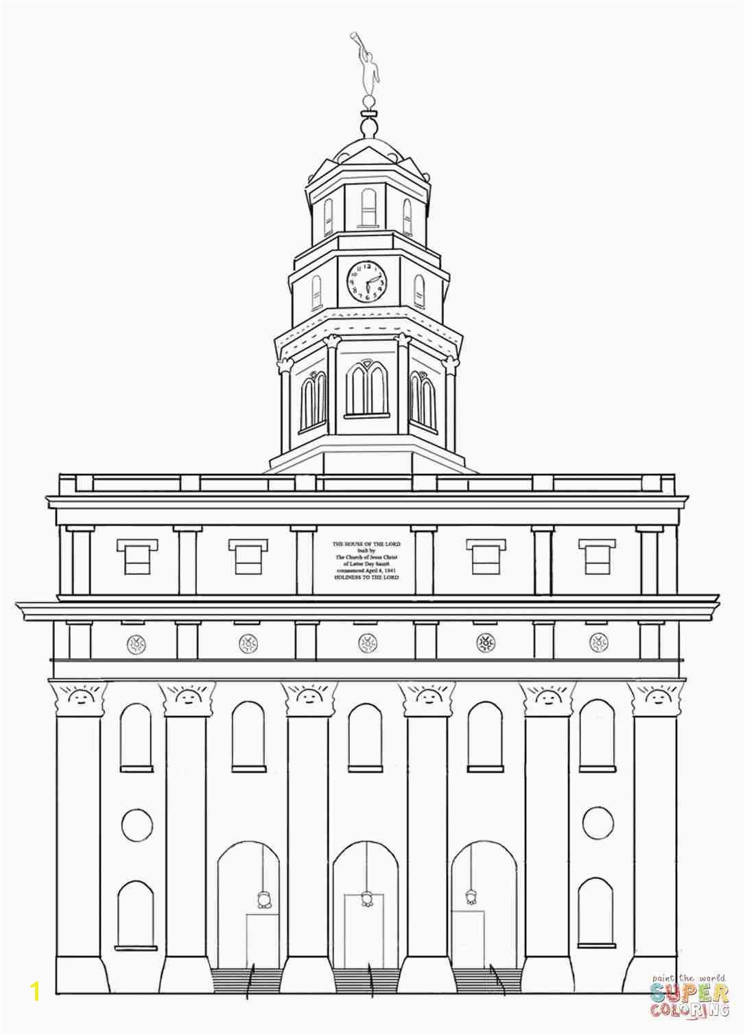 Kirtland Temple Coloring Page Inspirational Lds Temple Coloring Pages Nice Kirtland Page